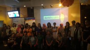Foto bersama dengan peserta bincang sehat
